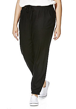 Simply Be Cuffed Trousers - Black