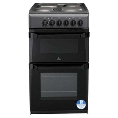 Indesit Electric Cooker, IT50EAS, Anthracite