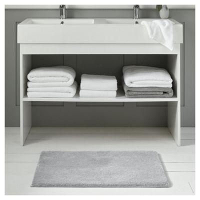 Fox & Ivy Supremely Soft Silver Bath Mat