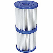 Twin Pack Bestway Size II Filter Cartridges for Pools & Lay-Z-Spas 72x Twin Pack