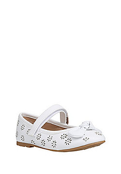 F&F Cut-Out Mary Jane Pumps - White