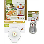 Infantino Bundle - Squeeze Station, Add On Funnel And Reusable Squeeze Pouch - 3 Items Supplied