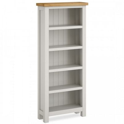 Farrow Painted Bookcase Slim Grey