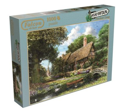 Jigsaw Puzzle - Around Britain- Riverbank Cottage 1000pcs Puzzle - Jumbo