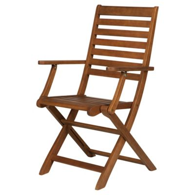 Buy Windsor Wooden Folding Garden Armchairs, 2 Pack from ...