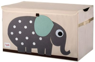 Grey Elephant Toy Chest