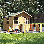 6x5 BillyOh Lollipop Junior Children Wooden Playhouse Outdoor Playground - Premium with 4ft Picket Fence