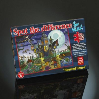 Spot the Difference - Haunted House - 100pc Puzzle