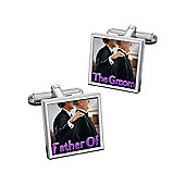 Sub Text To Have and To Hold - Father of the Groom Cufflinks By WD London