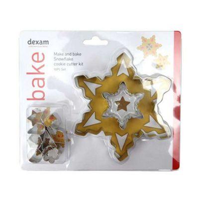 Dexam Make & Bake Snowflake Cookie Cutter Kit