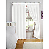 Hamilton McBride Thermal Backed Pencil Pleat Curtains - White