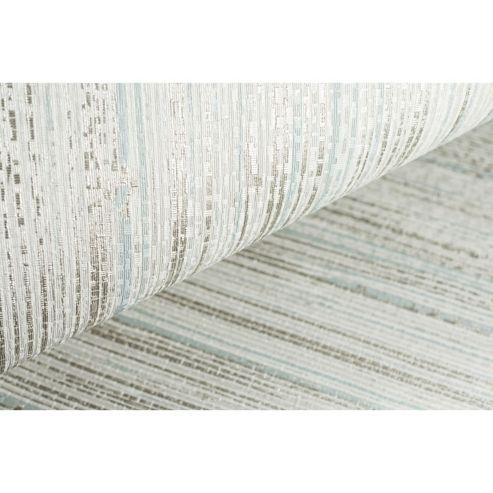 Boutique Neutral/Duck Egg Jute Textured Heavyweight Vinyl Wallpaper