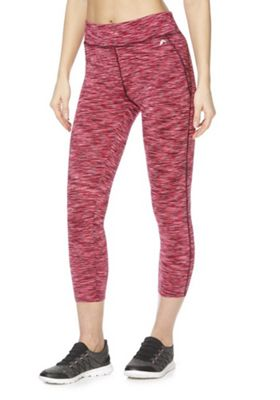 F&F Active Space Dye Quick Dry Cropped Leggings Pink M