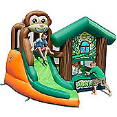 Bouncy Castle and Inflatable Slide - Bounce House - Monkey Jungle - 10ft - Happy
