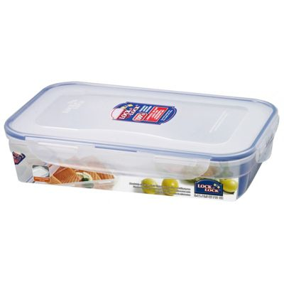Lock & Lock BPA-Free Rectangular Storage Container, 2.4 Litres (Clear)