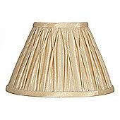 40cm Gold Polysilk Pinch Pleat Shade