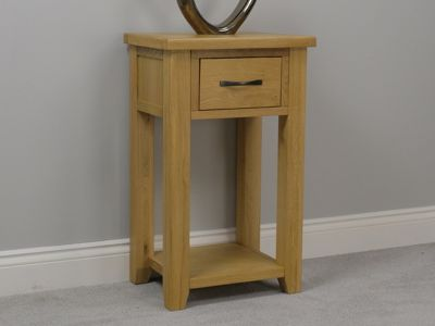 Ramore - Oak Console Table / 1 Drawer Unit