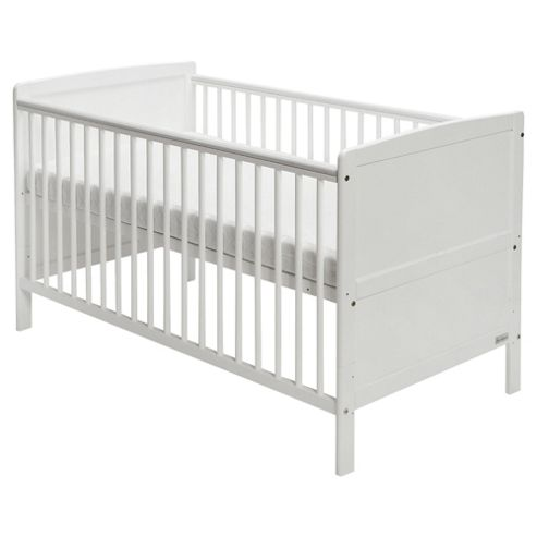 Baby Elegance Travis Cot Bed - White