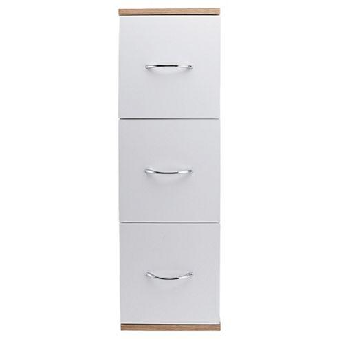 Two Tone Wood 3 Drawer Unit