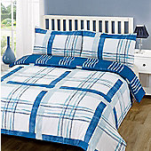 Duvet Cover with Pillowcase Set, Poole Check - Blue