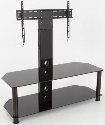 AVF 65 Inch Classic - Corner Glass Pedestal TV Stand - Black