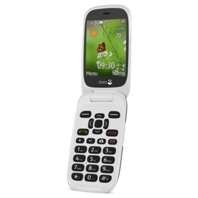 Doro 6530 Flip Sim Free Mobile with Doro Connect Black/White