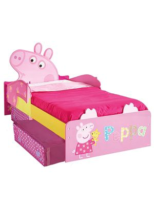 Buy Peppa Pig Toddler Bed With Storage Foam Mattress From Our