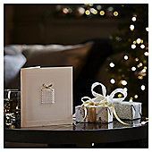 Luxury Pearl Present Christmas Cards, 6 pack