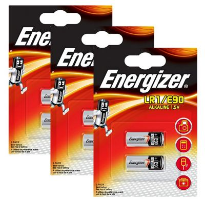 6 x Energizer LR1 1.5V Alkaline Battery E90 MN9100 N AM5 910A