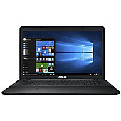 "ASUS X75 17.3"" Intel Celeron 8GB RAM 1000GB Windows 10 Laptop Black"