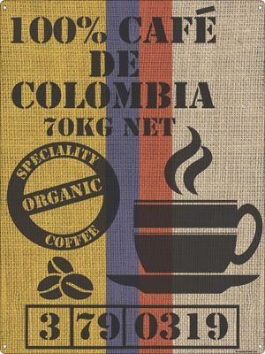 Cafe De Colombia Tin Sign 30.5x40.7cm