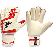 Precision Gk Classic Rollfinger Protection Junior Goalkeeper Gloves - White