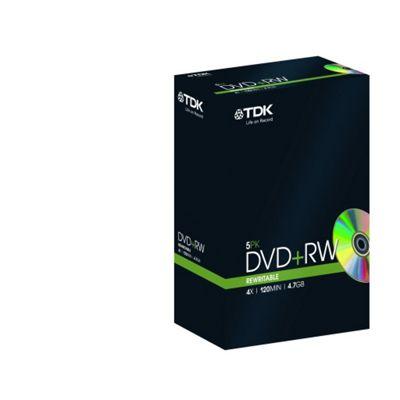 TDK 4.7 GB 120 min DVD+RW Discs 5 Pack