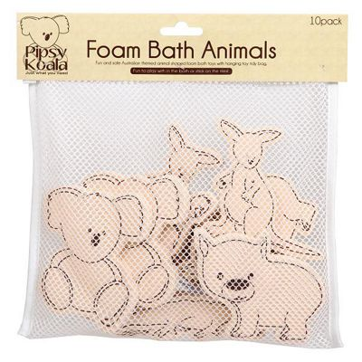 Pipsy Koala Foam Bath Animals In Bath Toy Tidy Bag
