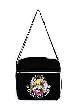 Crazy Cat Lady Black Flight Bag 38x33x11cm