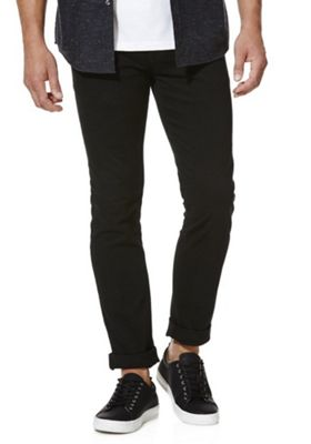 F&F Stretch Skinny Chinos 40 Waist 32 Leg Black