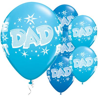 Dad You're the Best 11 inch Latex Balloons - 25 Pack