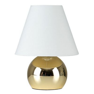 Mojo Touch Table Lamp, Gold with White Shade