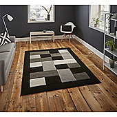 Matrix Check Border Black & Grey Runner - 60x225cm