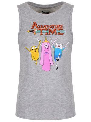Adventure Time Group Women's Floaty Tank Vest, Grey