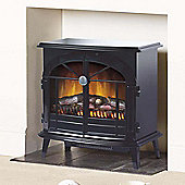 Stockbridge SKG20BLN Stove Fire Optiflame Log or Coal Effect, Black
