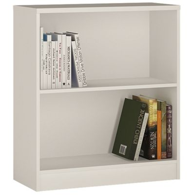 Kensington Low Wide Bookcase Pearl White