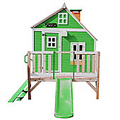 Whacky Penthouse Wooden Playhouse with Slide 6ft x 4ft