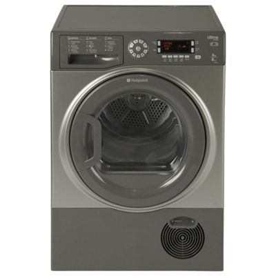 Hotpoint Ultima S-Line Condenser Tumble Dryer, SUTCD97B6GM (UK) - Graphite