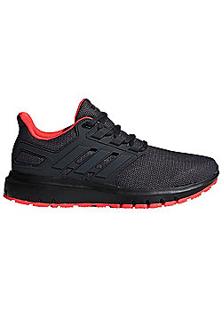 adidas Energy Cloud 2 Womens Neutral Running Trainer Shoe Carbon/Red - Black