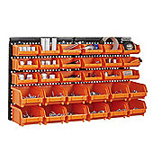 VonHaus 30pc Wall Bin Storage