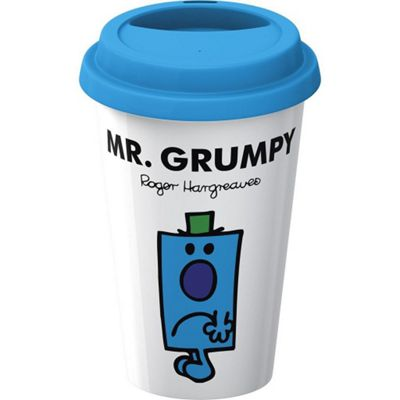 Creative Tops Mr. Men Mr. Grumpy Double Walled Porcelain Travel Mug 5139296