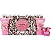 Versace Bright Crystal Absolu Gift Set 5ml EDP + 25ml Body Lotion + 25ml Shower Gel For Women