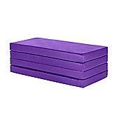 """4"""" Thick Faux Leather Folding Crash Mat - Purple"""