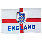 England FA Flag 5x3ft - White